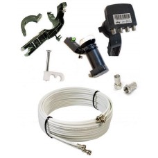 Sky Hd Upgrade Kit - 25m Twin Cable